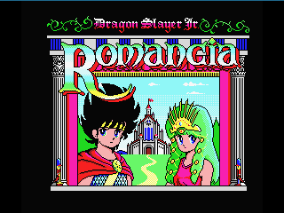 Title screen in the new English patch for Romancia MSX2