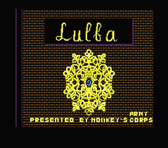 Title screen for the new English patch for Sorcerer Lulba