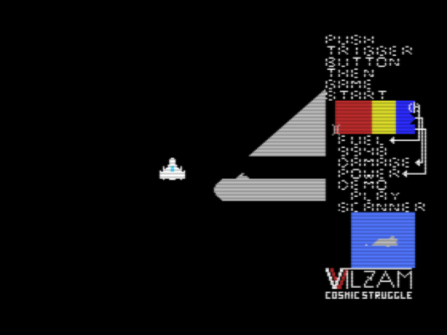 Title screen for the original Japanese version of Vilzam ヴィルザム)
